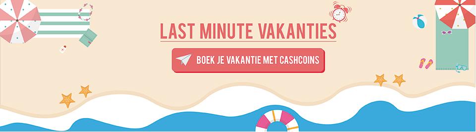 Boek je last minute vakantie met CashCoins banner-0
