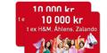 Presentkort H&M, Zalando eller Åhlens