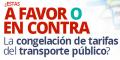 Sondeo - Congelación tarifas transporte público