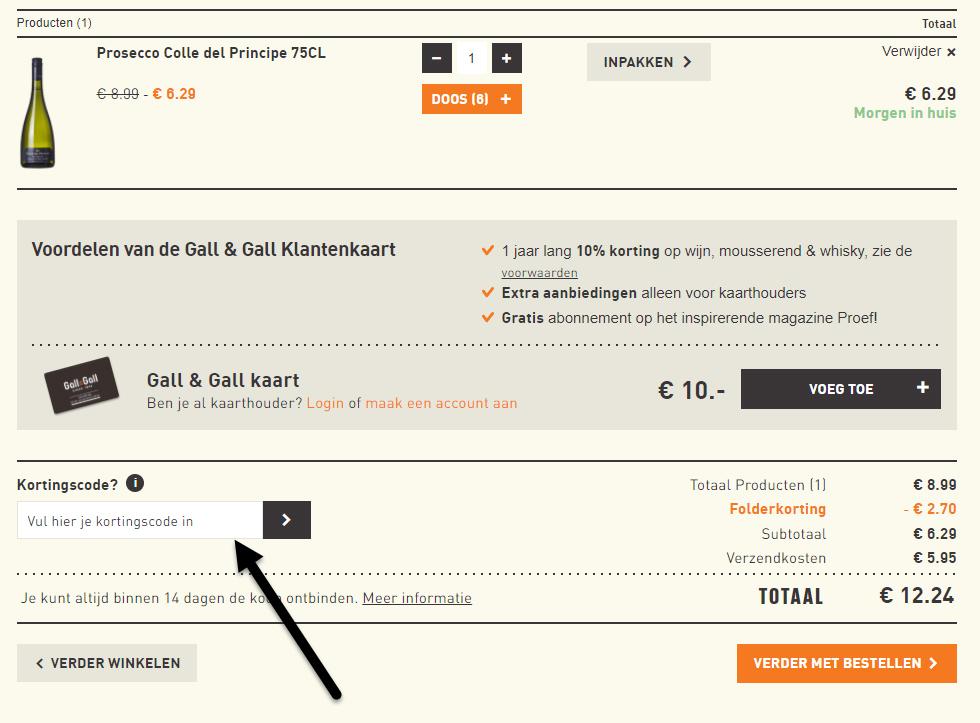 fa497a2269e Ontvang 10,00% cashback bij Gall & Gall via ShopBuddies.nl