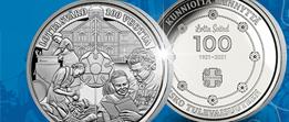 Moneta: Lotta Svärd 100 vuotta -muistomitali