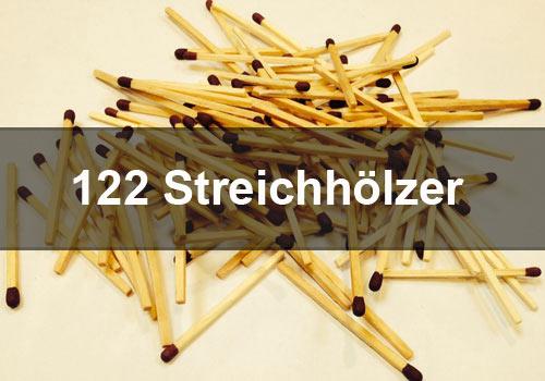 122 Streichhölzer