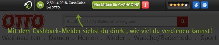 Cashback-Melder