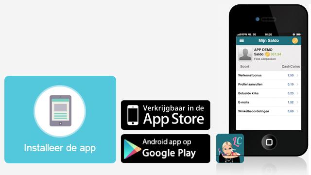 LadyCashback.be app