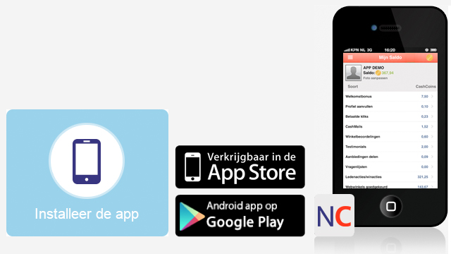 NuCash.be app