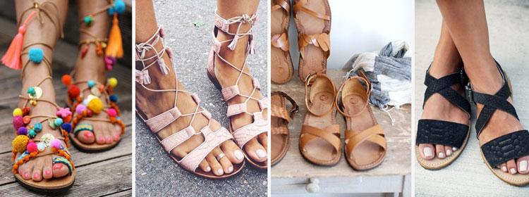 zomerse sandaaltjes
