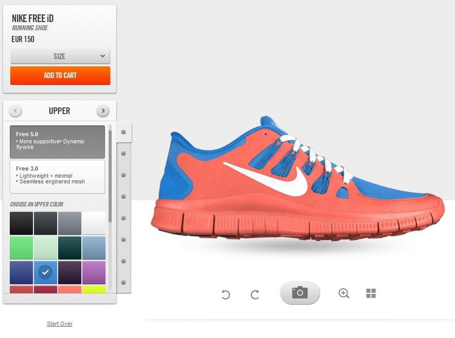 Maak je eigen Nike free run sneakers